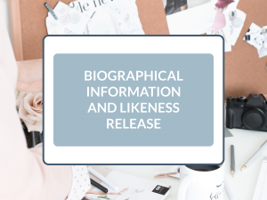 Purchase Likeness and Biographical Information Release