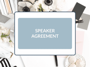 Purchase Speaker Agreement